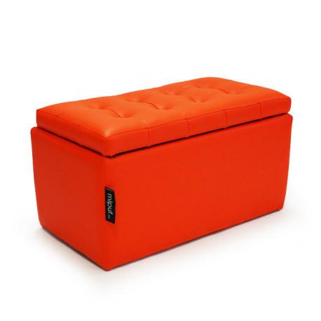 Puff Arcón 75x40x40 Polipiel Naranja