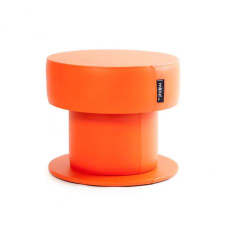 Mesa Puff Tubular 60x50 Polipiel Naranja