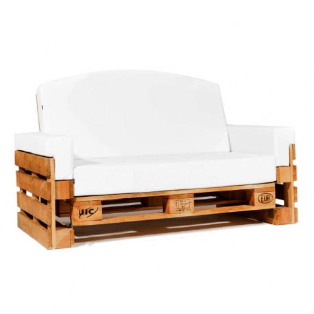 Sofá de Palet Reclinable 120cm