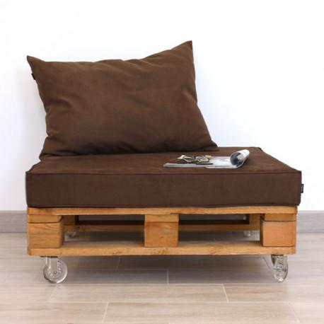 Mueble con Palet de Madera y Antelina 80x80cm