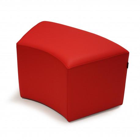 Puf Wave Tejido - Náutico Rojo