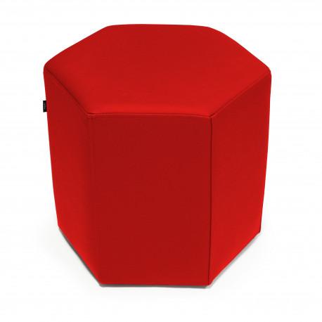 Puf Hex Tejido - Náutico Rojo