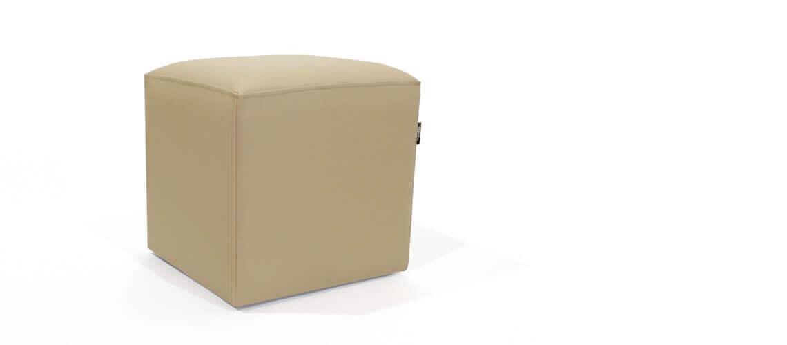 Puff Cuadrado Cube 40x40 -Náutico Crema