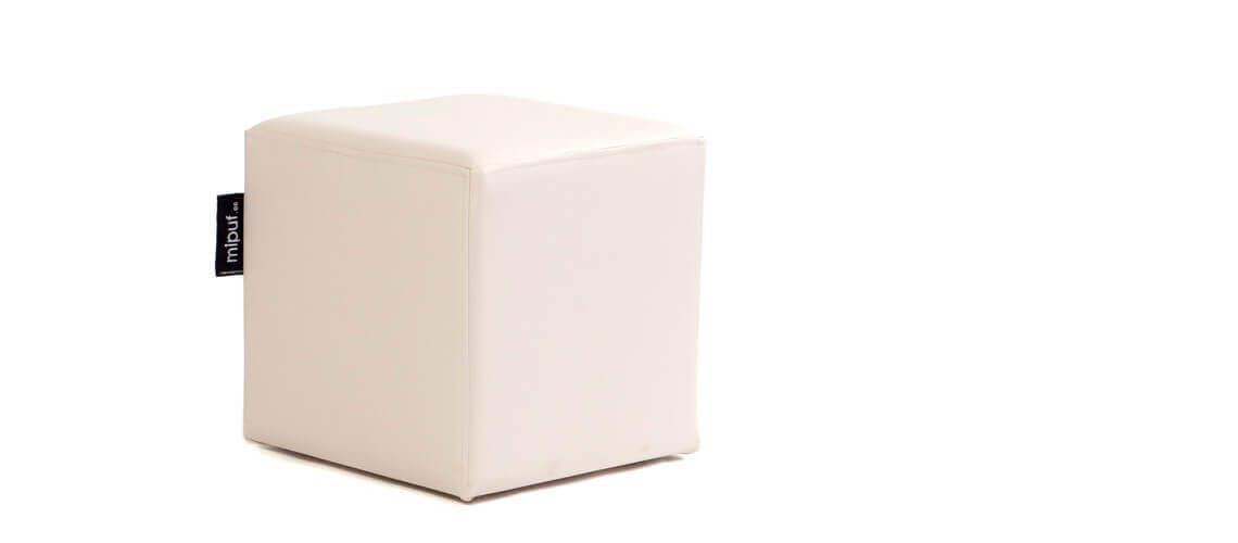 Puff Cuadrado Cube 40x40 - Polipiel Beige
