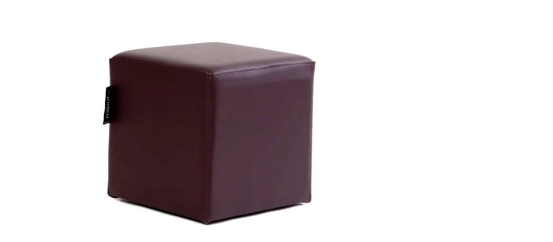 Puff Cuadrado Cube 40x40 - Polipiel Chocolate