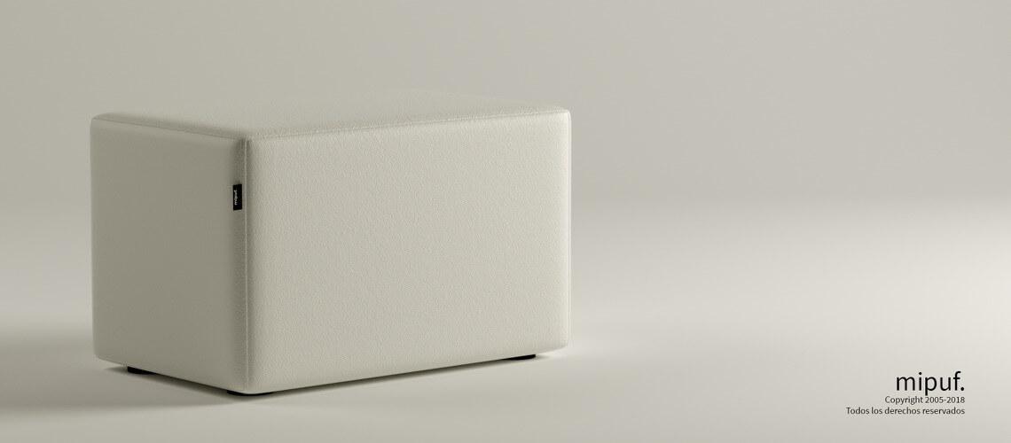 Puff Rectangular Cube 75x40 -Náutico Blanco