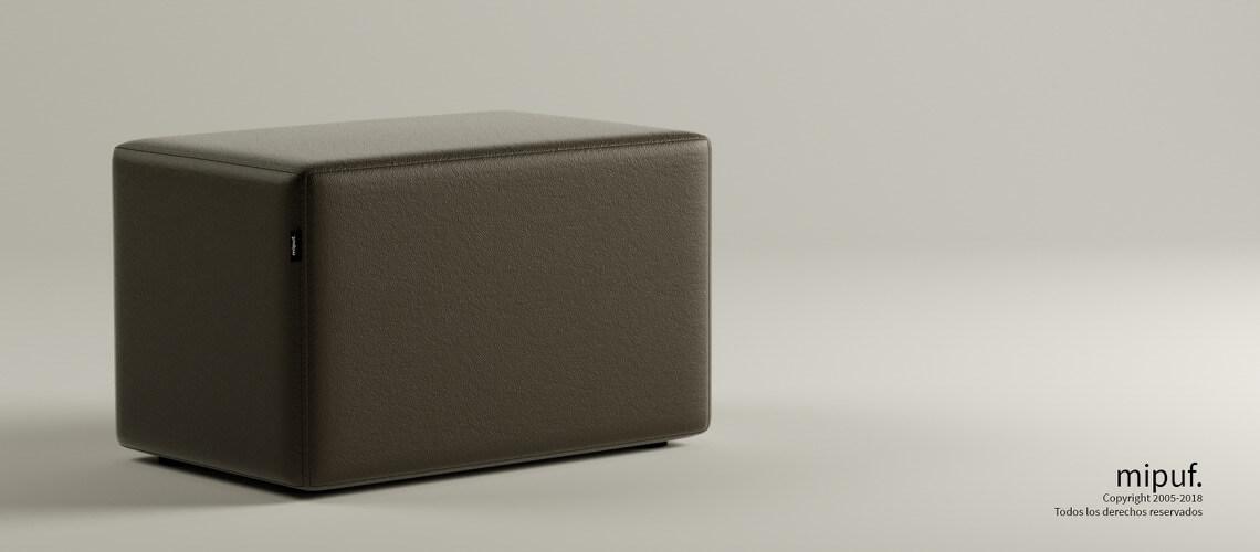 Puff Rectangular Cube 75x40 -Náutico Choco
