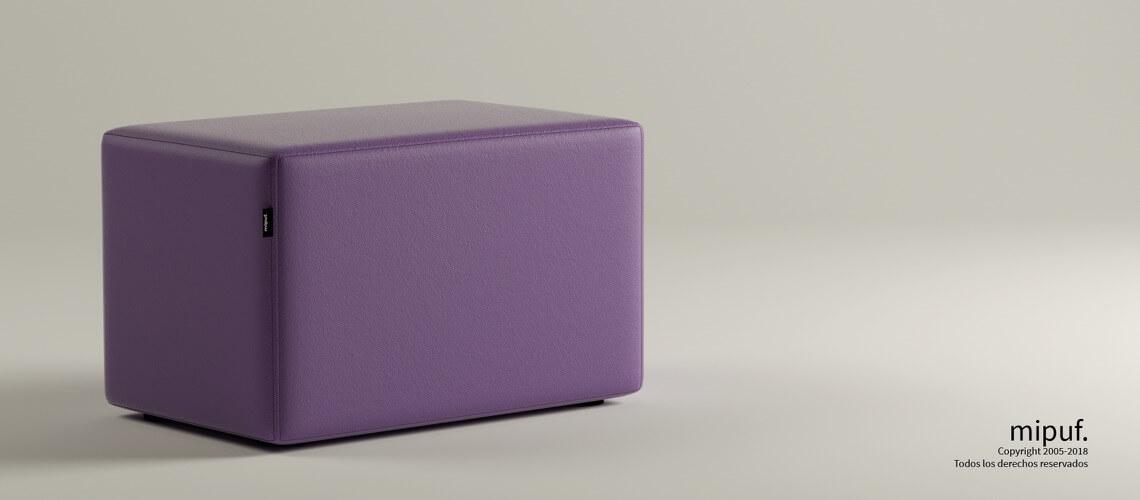 Puff Rectangular Cube 75x40 -Náutico Lila