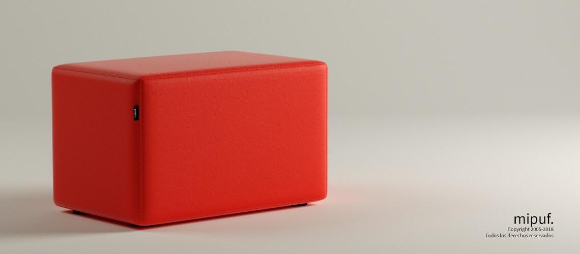 Puff Rectangular Cube 75x40 -Náutico Rojo
