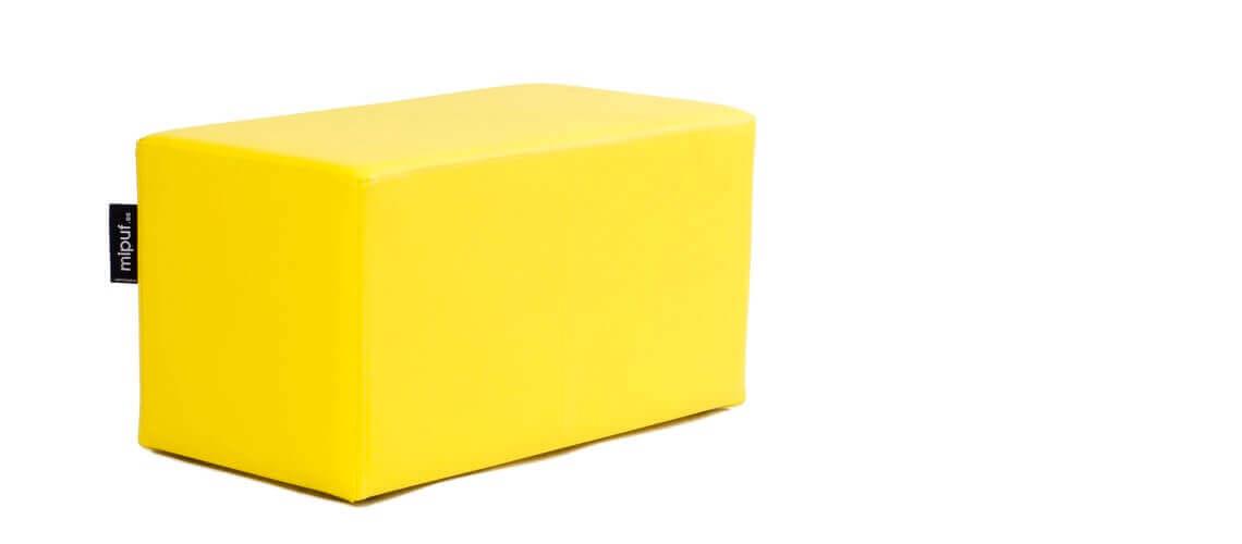Puff Rectangular Cube 75x40 - Polipiel Amarillo