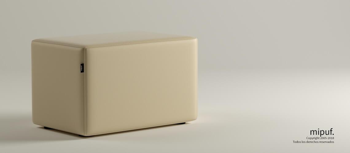 Puff Rectangular Cube 75x40 - Polipiel Violeta