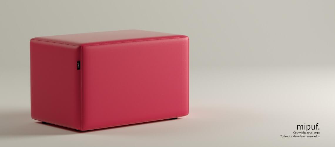 Puff Rectangular Cube 75x40 - Polipiel Fucsia