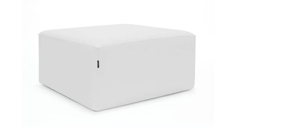 Puff Cuadrado Cube 75x75 - Náutico Blanco
