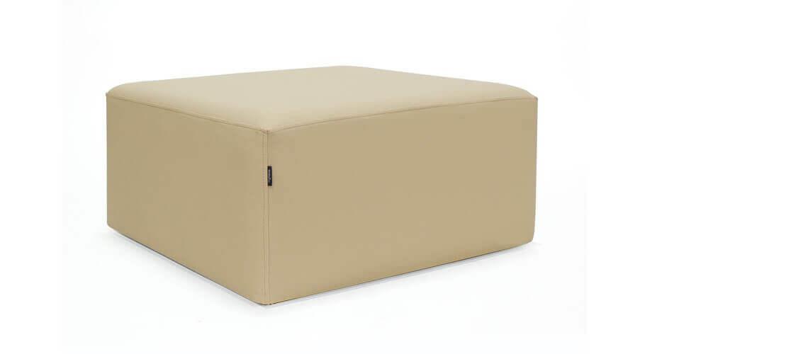 Puff Cuadrado Cube 75x75 - Náutico Crema