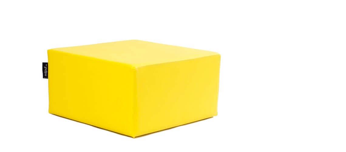 Puff Cuadrado Cube 75x75 - Polipiel Amarillo