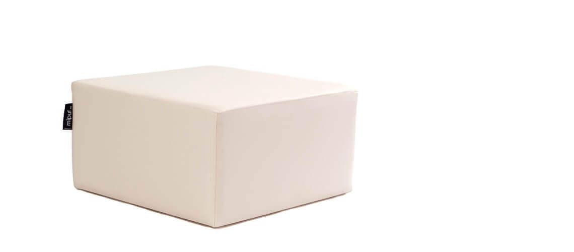 Puff Cuadrado Cube 75x75 - Polipiel Beige