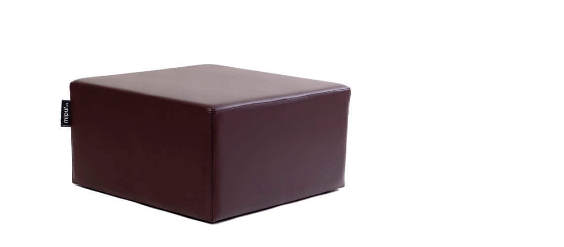 Puff Cuadrado Cube 75x75 - Polipiel Chocolate