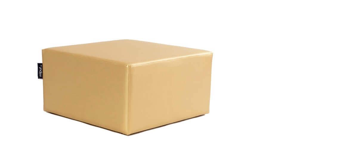 Puff Cuadrado Cube 75x75 - Polipiel Dorado