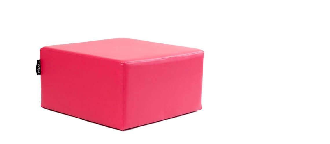 Puff Cuadrado Cube 75x75 - Polipiel Fucsia