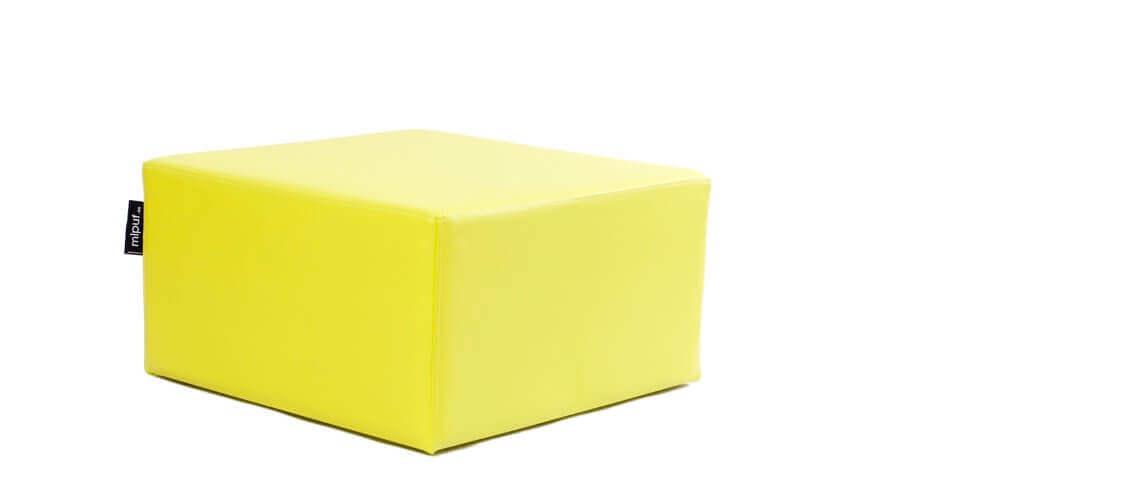 Puff Cuadrado Cube 75x75 - Polipiel Verde