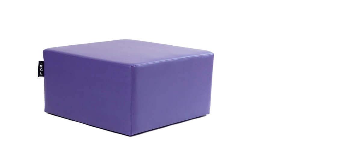 Puff Cuadrado Cube 75x75 - Polipiel Violeta
