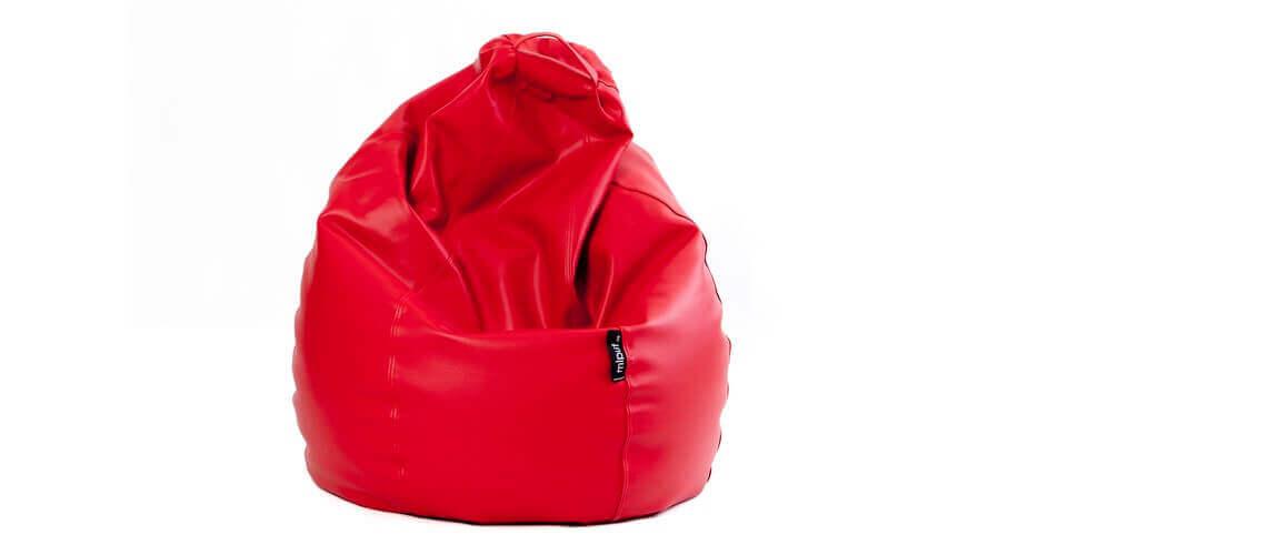 Puf Pera XL -Polipiel Rojo