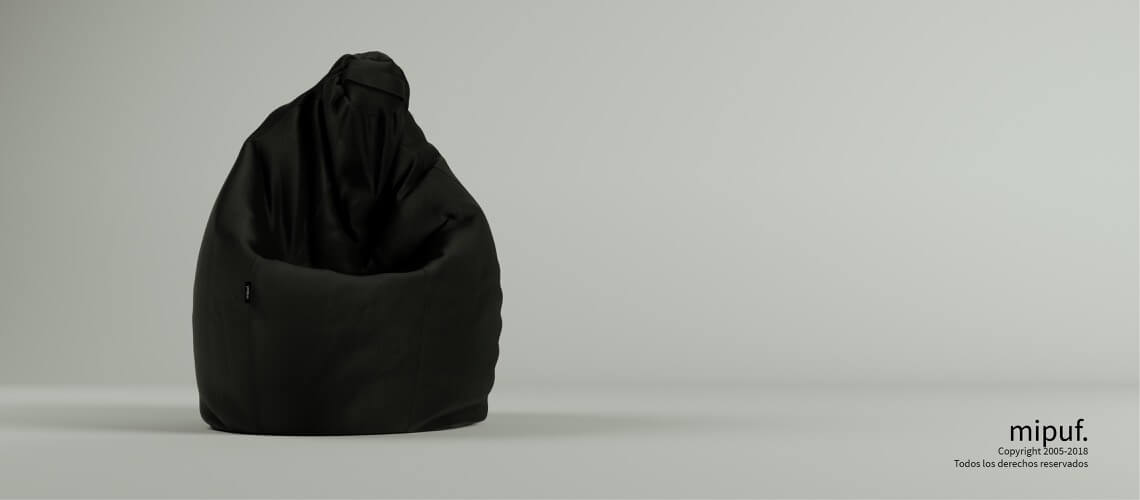 Puff Pera Super M - Antelina Negro