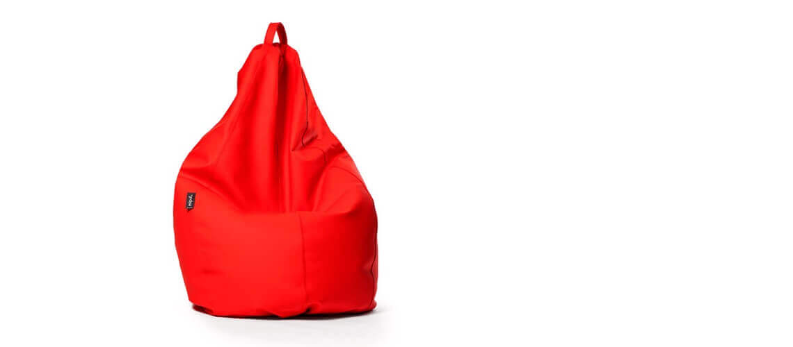 Puff Pera Super M - Náutico Rojo