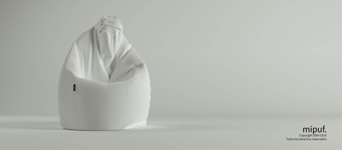 Puff Pera Super M - Poliester blanco