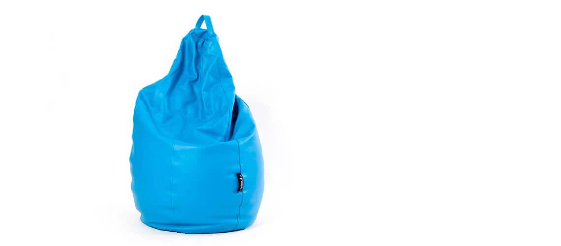 Puff Pera Super M - Polipiel Azul turquesa