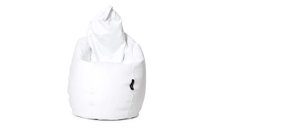 Puff Pera Super M - Polipiel Blanco