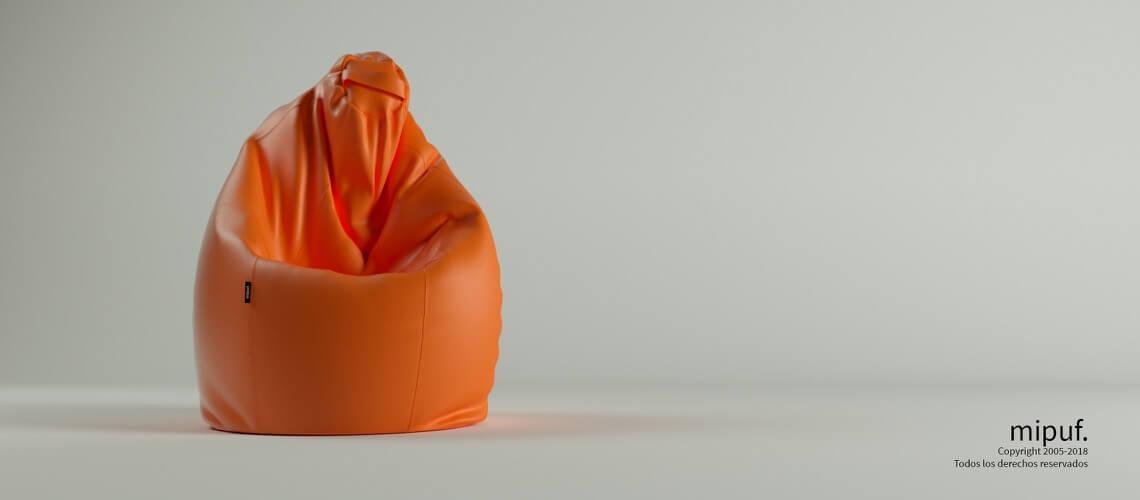 Puff Pera Super M - Polipiel Naranja