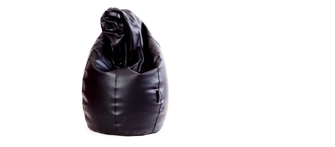 Puff Pera Super M - Polipiel Negro