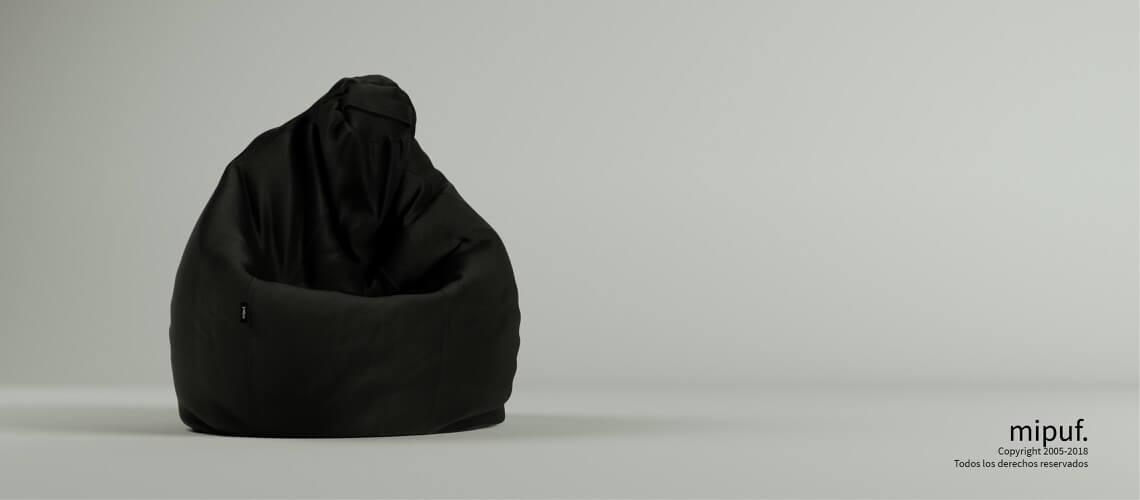 Puf Pera XL -Antelina Negro