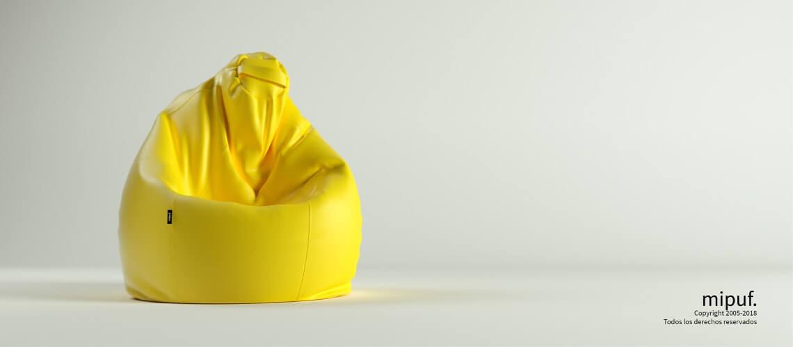 Puf Pera XL -Polipiel Amarillo