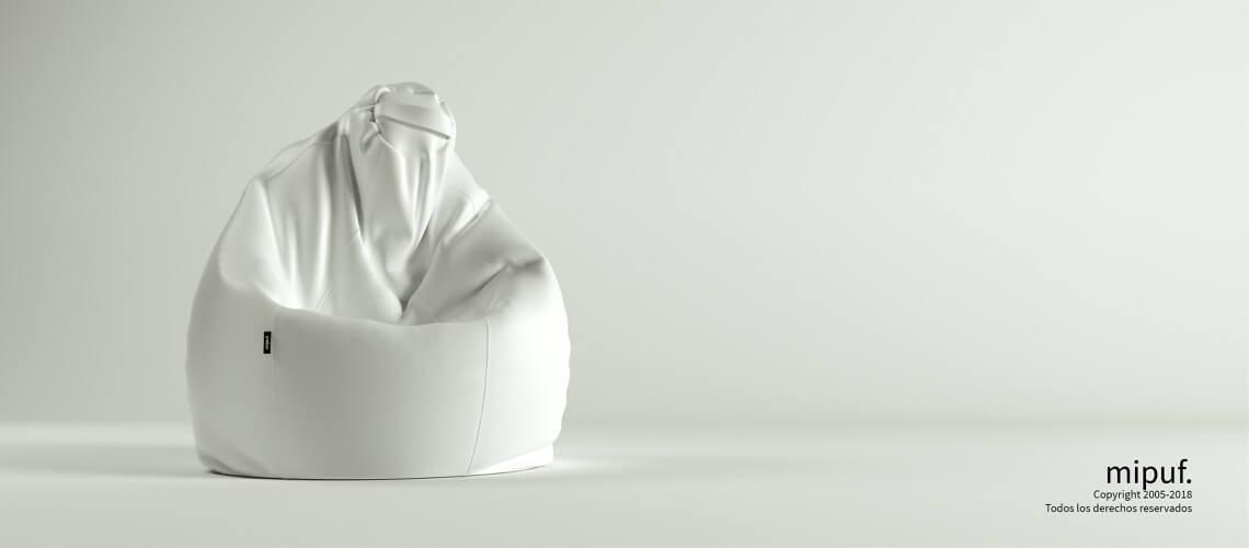 Puf Pera XL -Polipiel Blanco