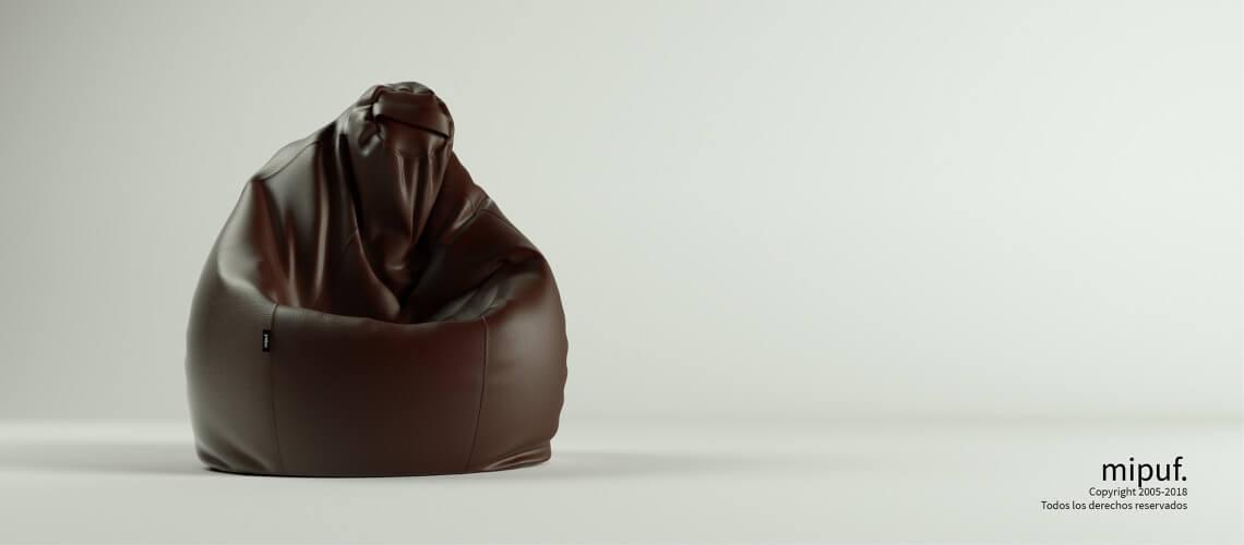 Puf Pera XL -Polipiel Chocolate