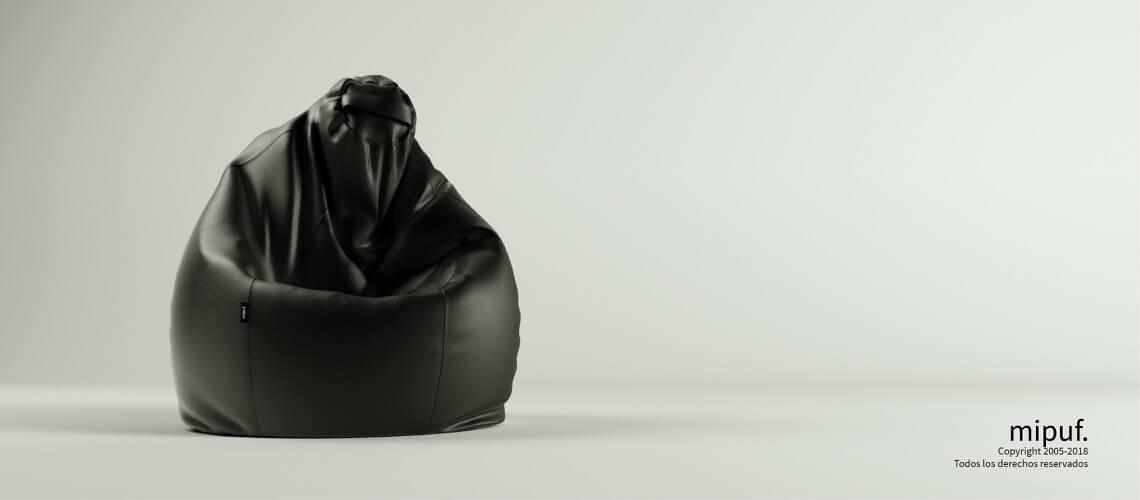 Puf Pera XL -Polipiel Negro
