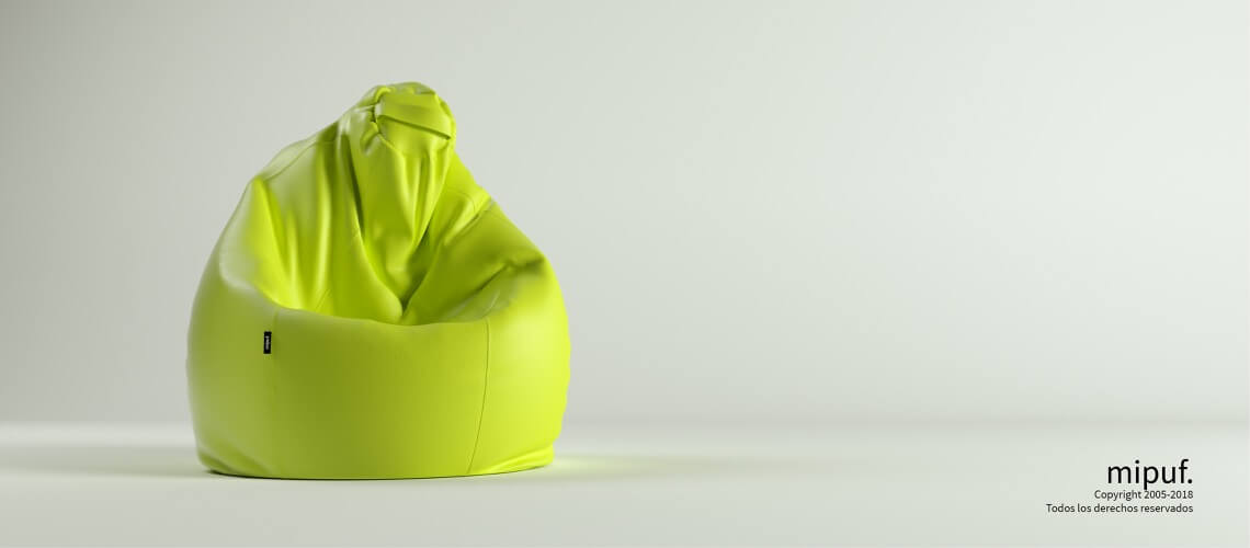 Puf Pera XL -Polipiel Verde