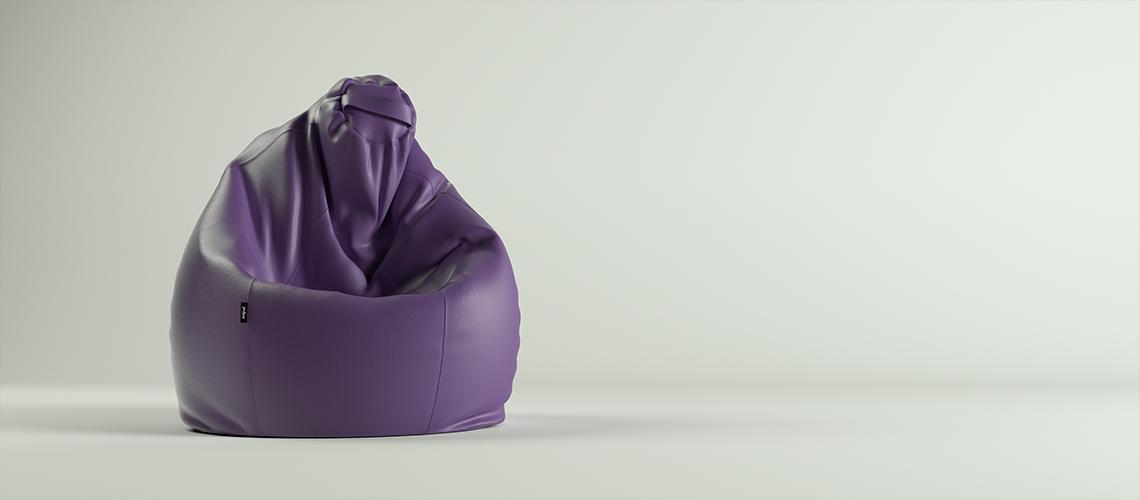 Puf Pera XL- Polipiel Violeta