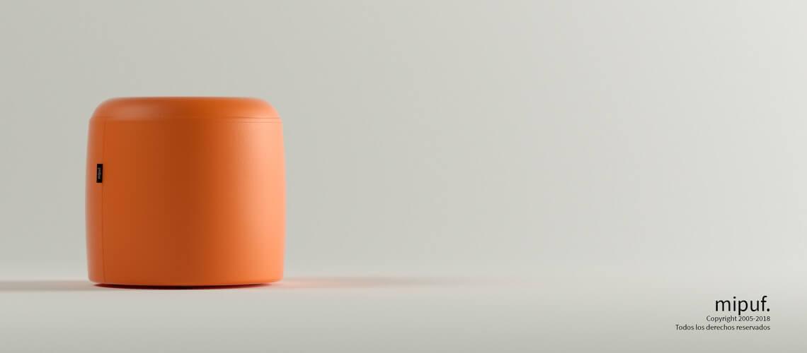 Taburete 40x40 - Polipiel Naranja