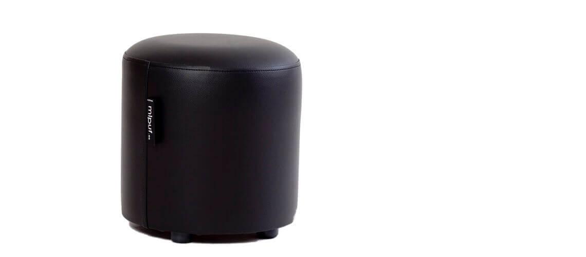 Puff Taburete 40x40 - Polipiel Negro