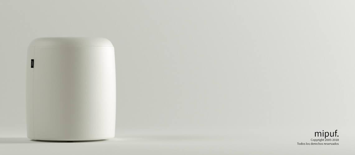 Puff Taburete 40x50 - Náutico Blanco