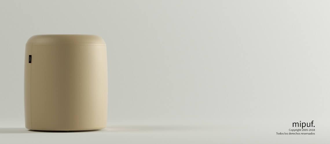 Puff Taburete 40x50 - Náutico Crema