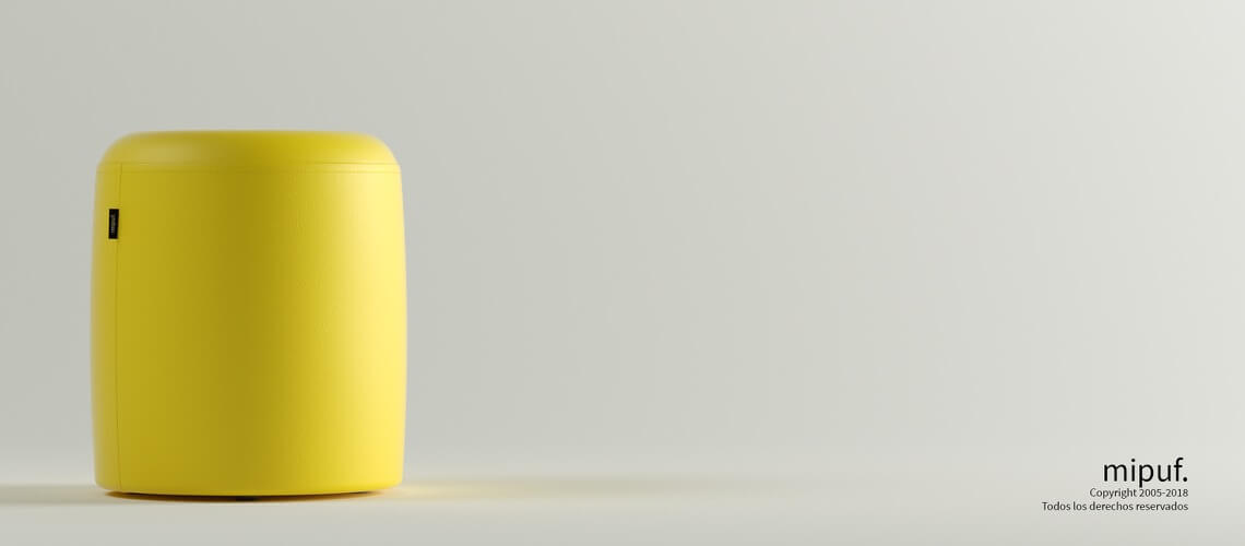 Puff Taburete 40x50 - Polipiel Amarillo