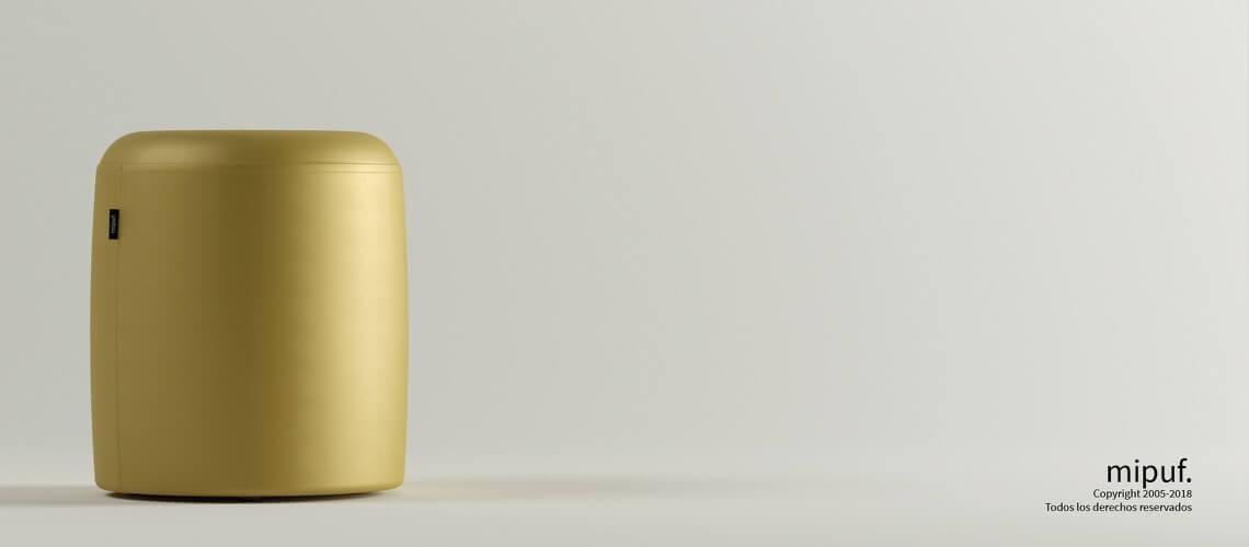 Puff Taburete 40x50 - Polipiel Dorado