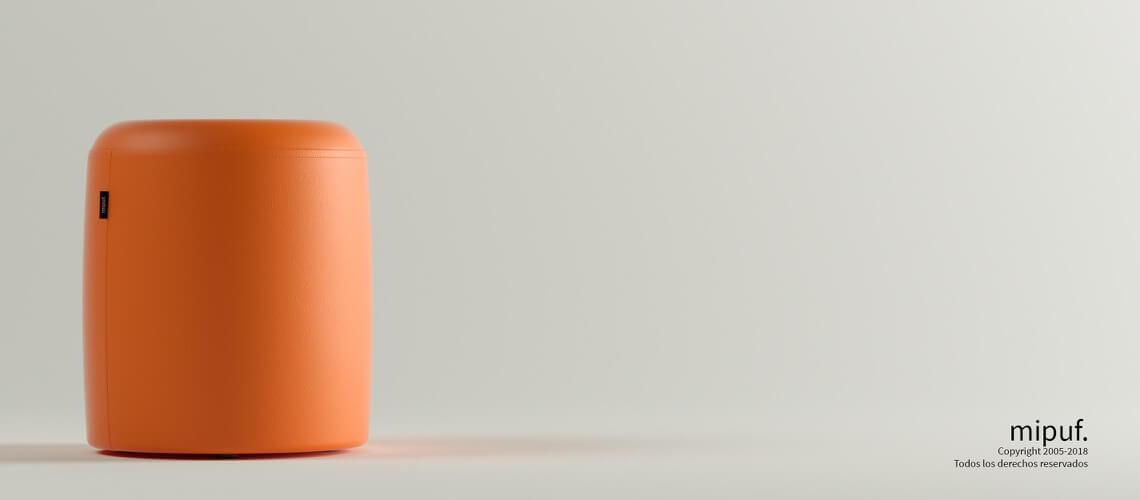 Puff Taburete 40x50 - Polipiel Naranja