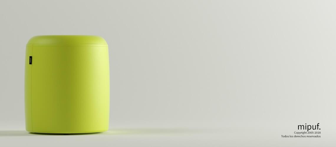 Puff Taburete 40x50 - Polipiel Verde