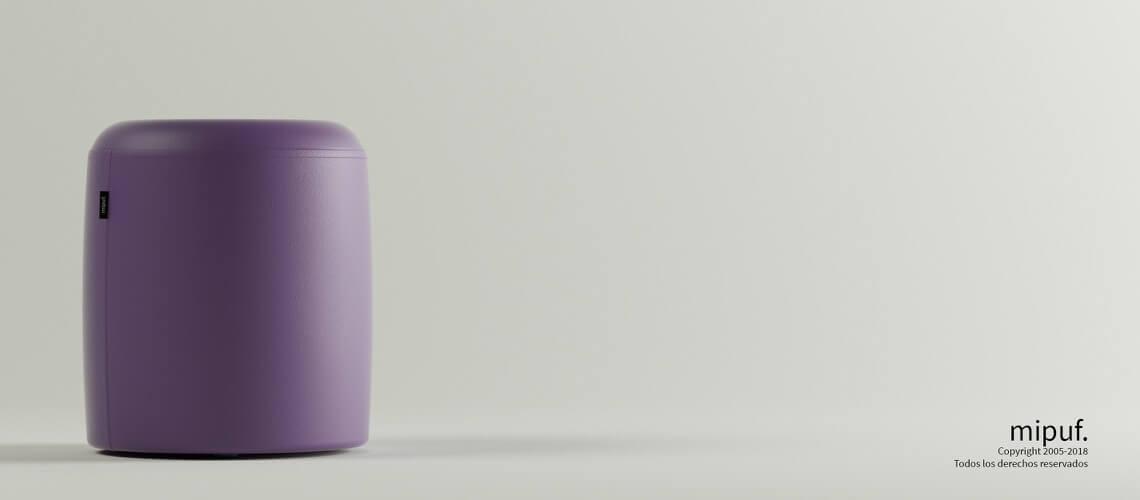 Puff Taburete 40x50 - Polipiel Violeta