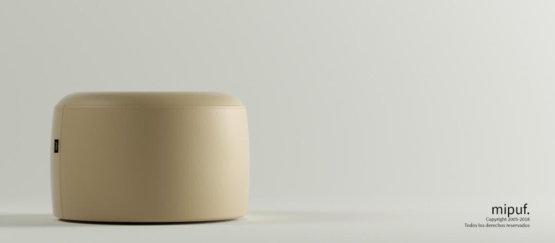 Puff Taburete 60x35 - Náutico Crema